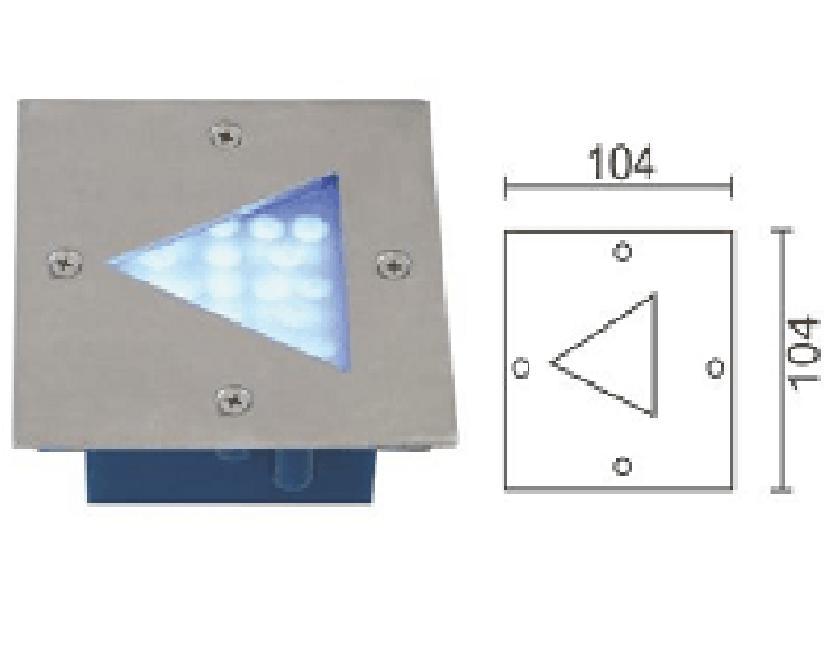 Đèn LED âm sàn DL-A002