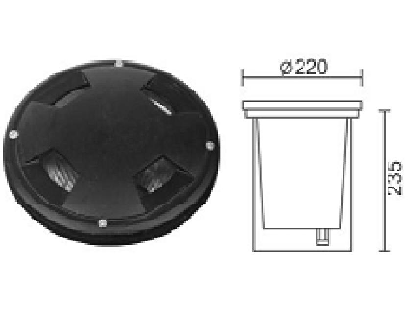 Đèn LED âm sàn DL-A005