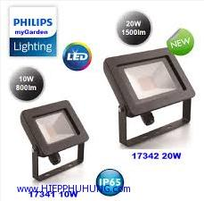 Đèn pha LED Floodlight My garden Philips 17341-10W, 17342-20W